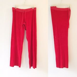 Juicy Couture Red Jumpsuit Pants